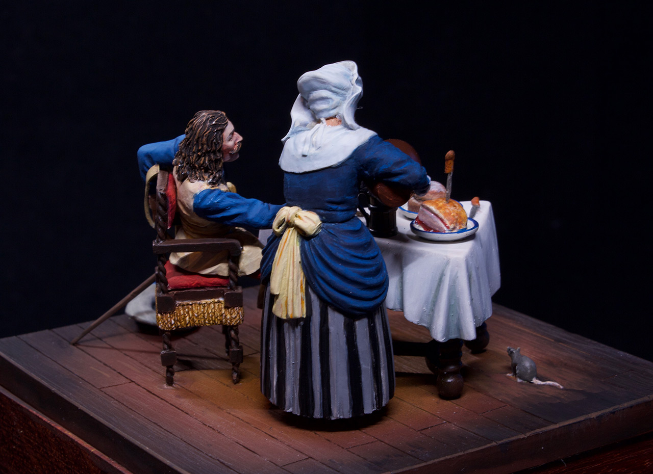 Dioramas and Vignettes: Waitress and cavalier, photo #11