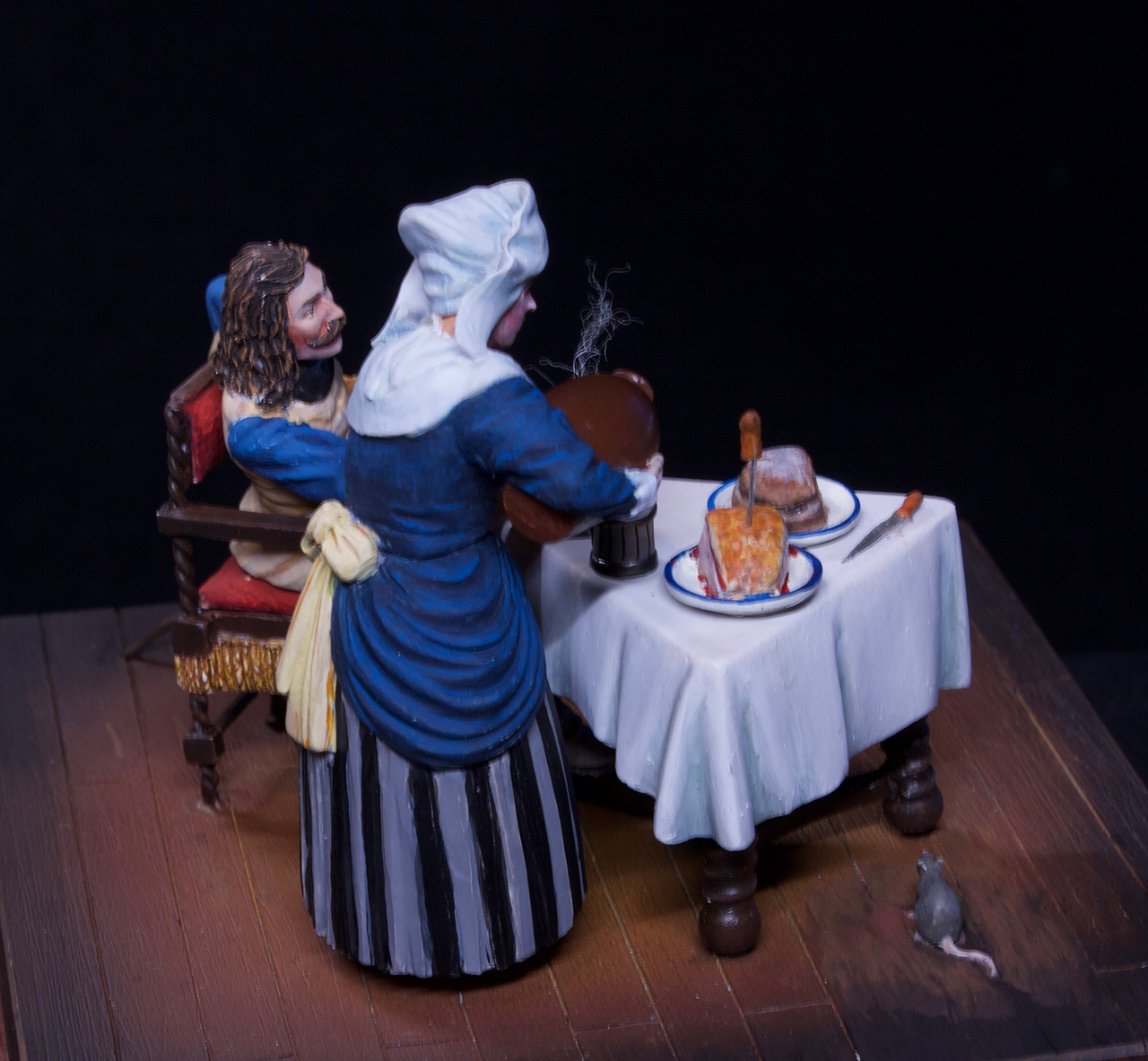 Dioramas and Vignettes: Waitress and cavalier, photo #12