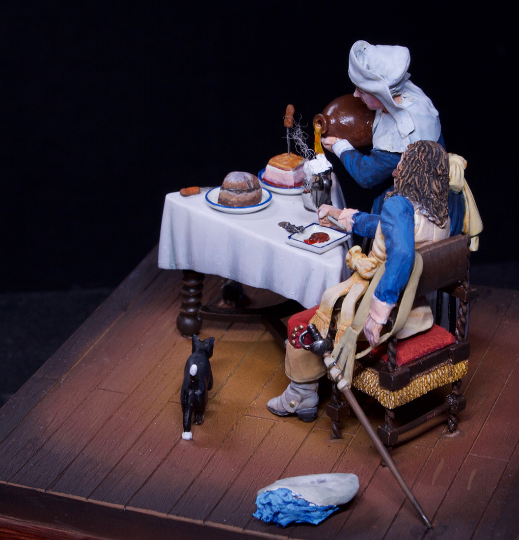 Dioramas and Vignettes: Waitress and cavalier, photo #15