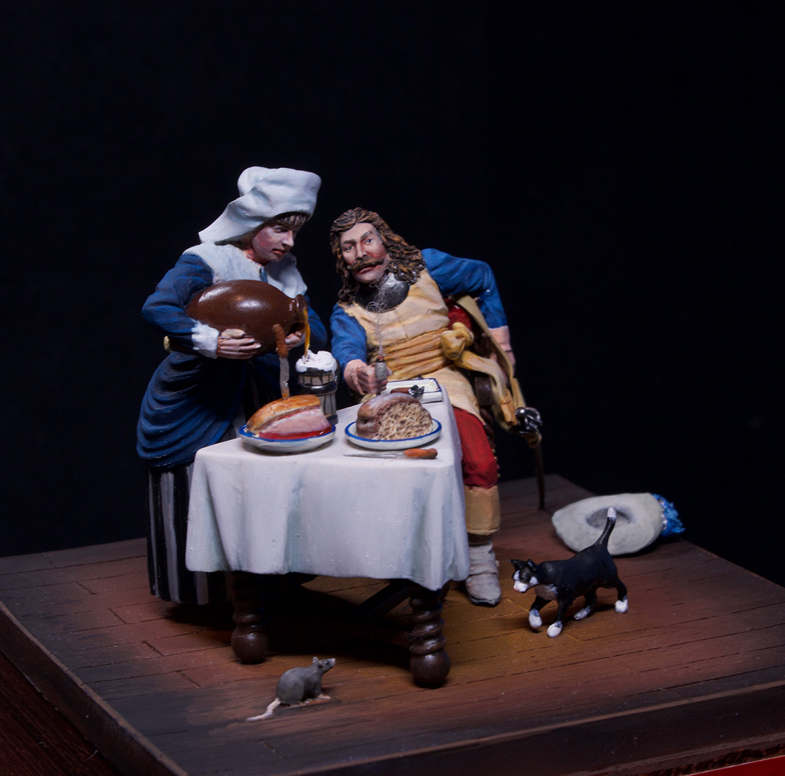 Dioramas and Vignettes: Waitress and cavalier, photo #2
