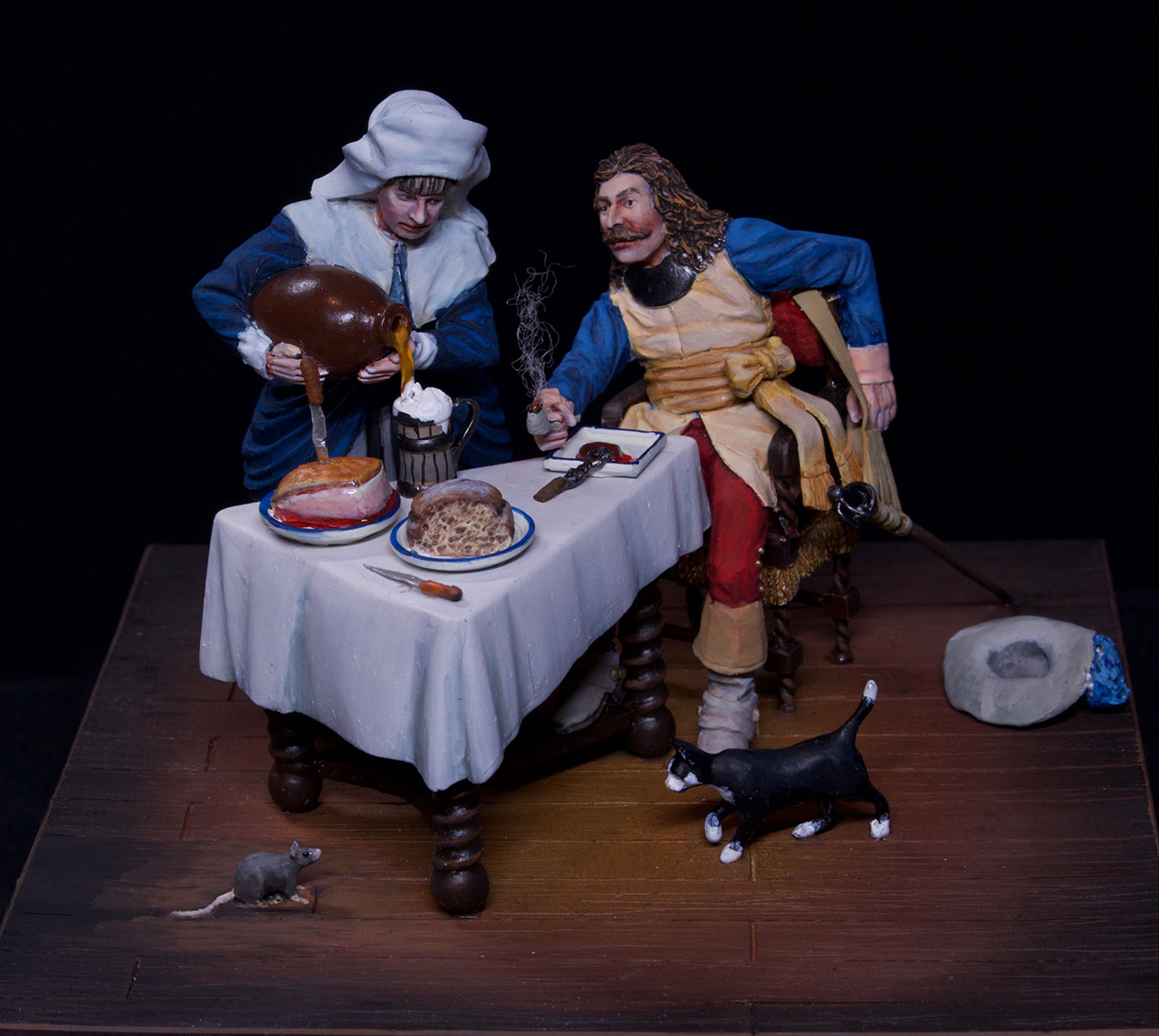 Dioramas and Vignettes: Waitress and cavalier, photo #3