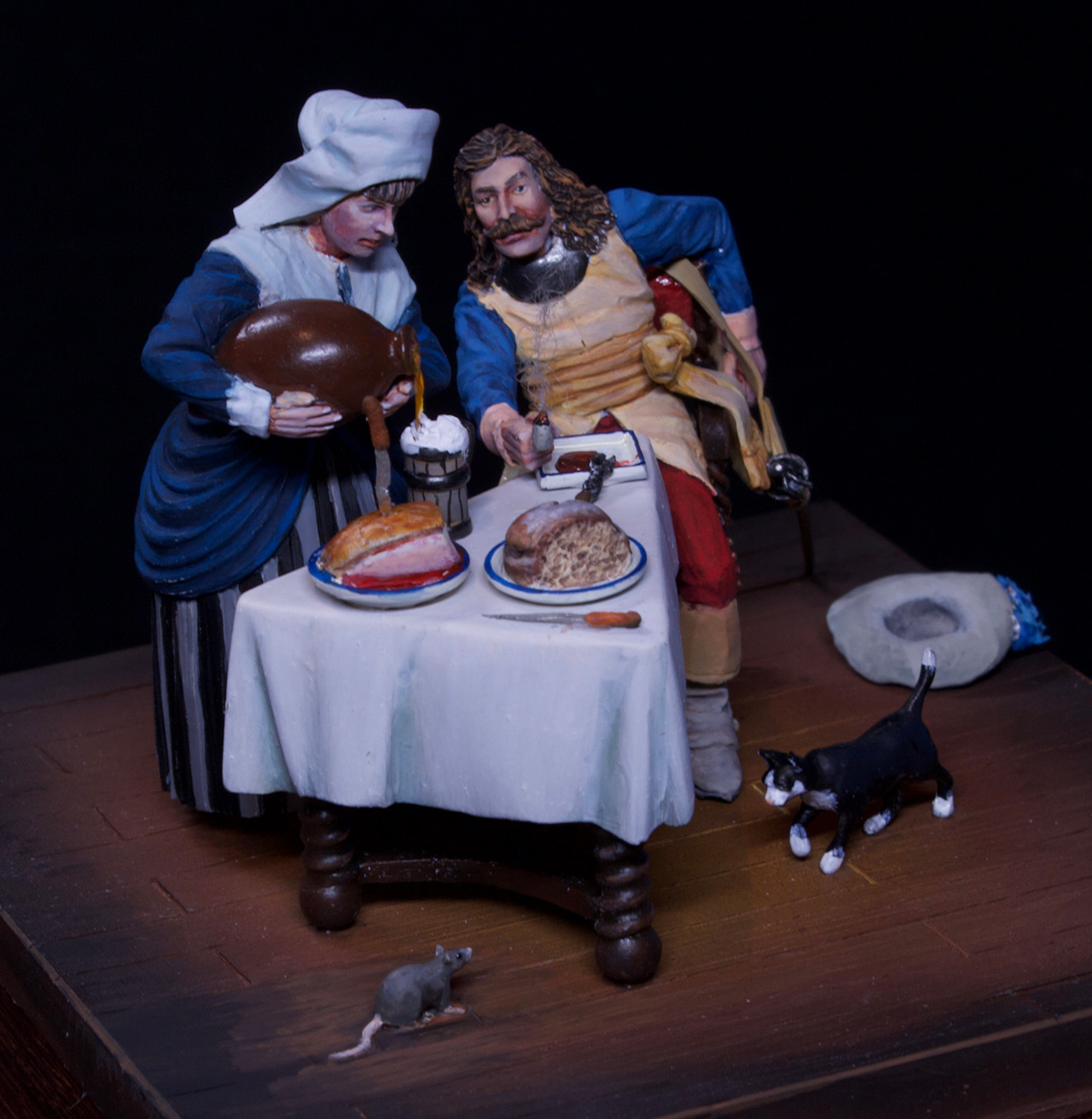 Dioramas and Vignettes: Waitress and cavalier, photo #4