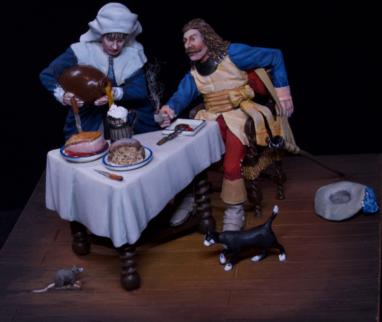 Dioramas and Vignettes: Waitress and cavalier, photo #6