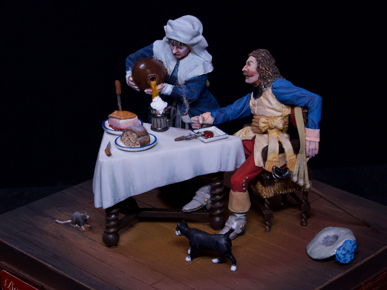 Dioramas and Vignettes: Waitress and cavalier, photo #7
