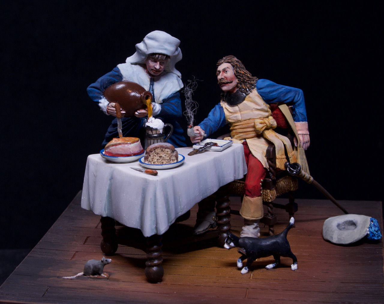 Dioramas and Vignettes: Waitress and cavalier, photo #8