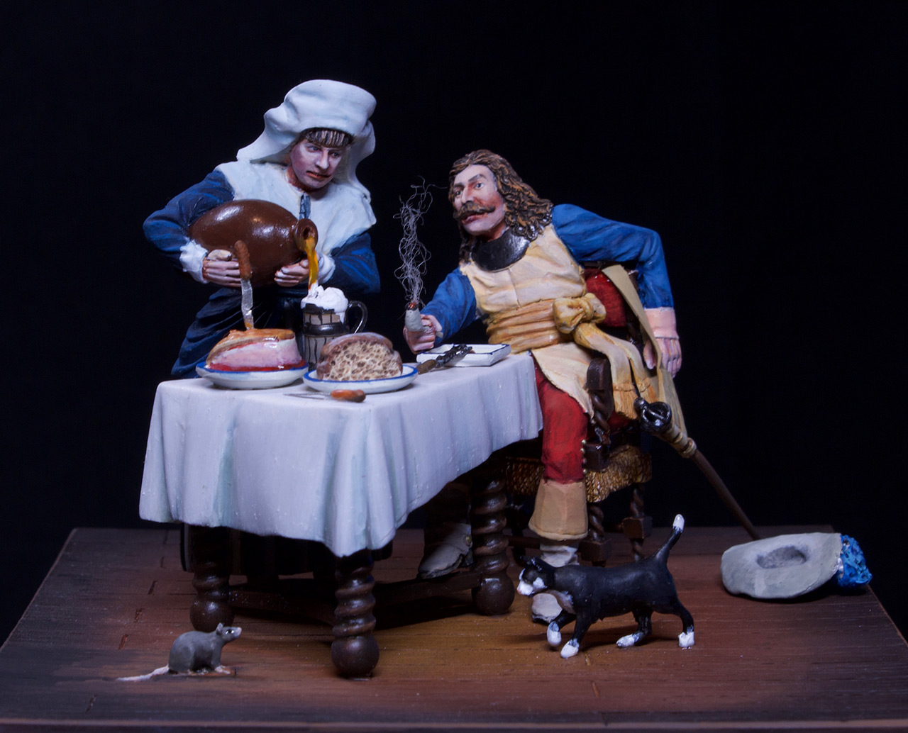 Dioramas and Vignettes: Waitress and cavalier, photo #9