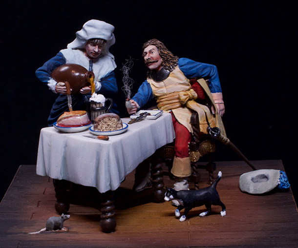 Dioramas and Vignettes: Waitress and cavalier