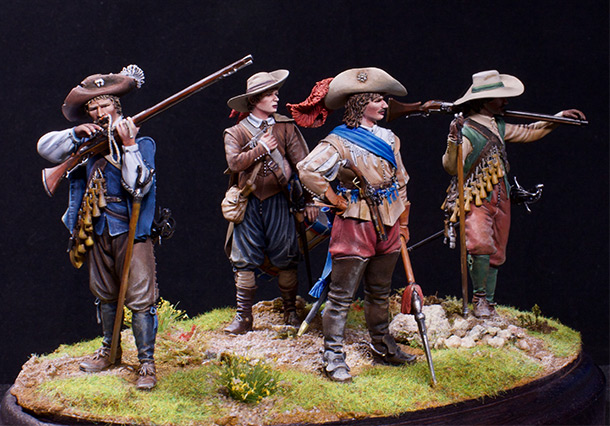 Figures: Musketeers, 1630