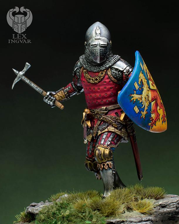 Figures: German knight, XIV cent.