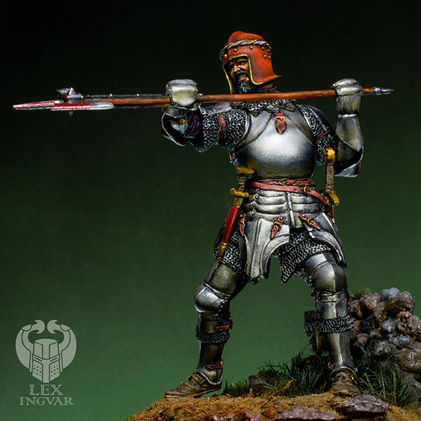Figures: Italian condotier, Burghundian knight