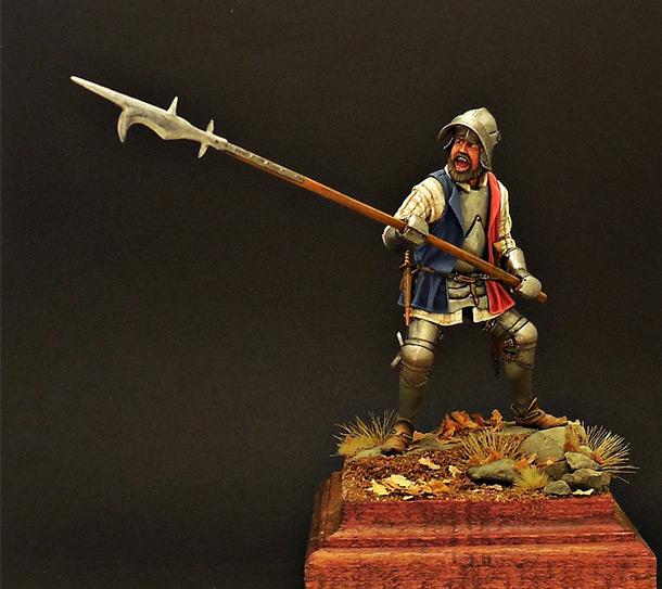 Figures: European infantryman, XV cent.