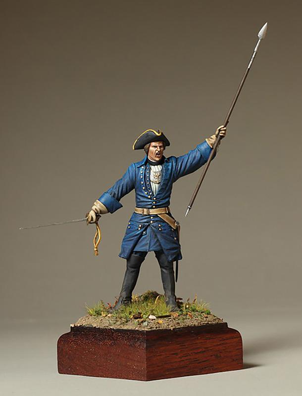 Figures: Swedish infantry officer, 1700-1721