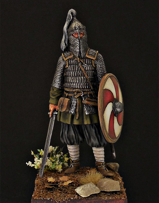 Figures: Russian warrior, 10th cent.