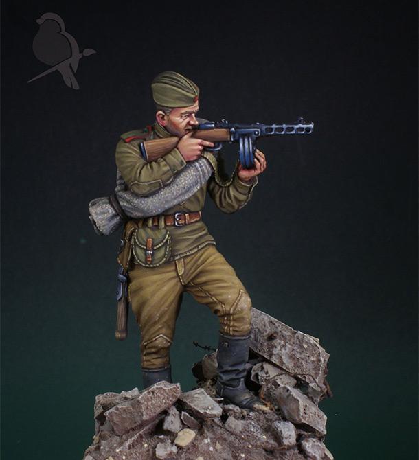 Figures: Red Army infantryman, 1943-45