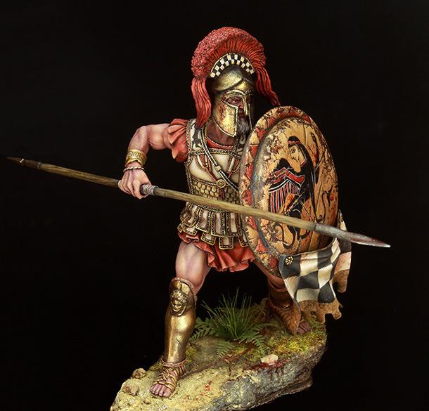 Figures: Greek hoplite, 5th B.C.