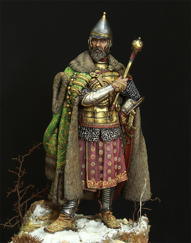 Figures: Moscow boyar warlord, 17th cent.
