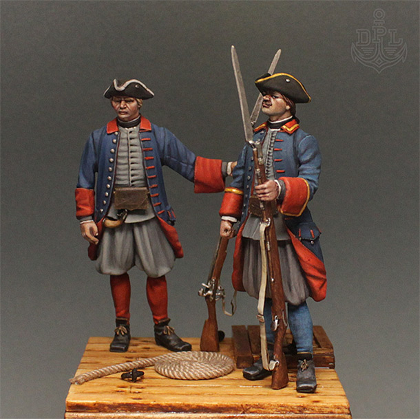 Figures: Marine soldiers of Peter the Great