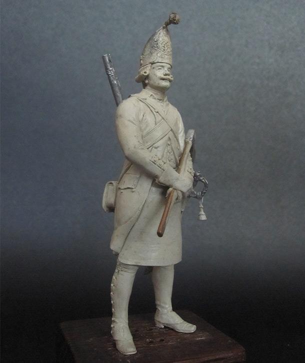Sculpture: Labourer, Grenadier regt, 1797-1801