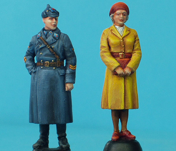 Figures: Red Army Pilot with Wife