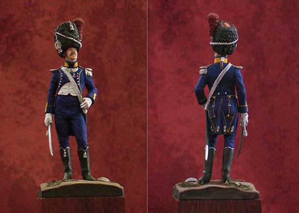 Figures: Second Lieutenant of the Light Infantry, Napoli 1813-1815