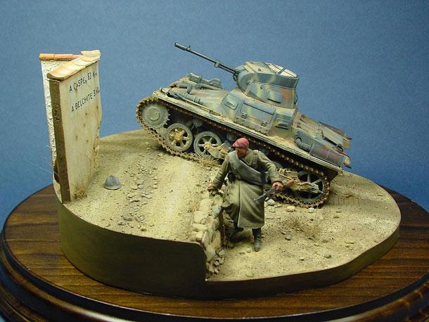 Dioramas and Vignettes: Pz.IA with Breda gun, Spain 1938