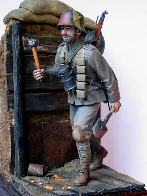 Figures: German stormtrooper, 1917-18, photo #12