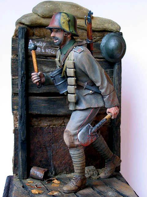 Figures: German stormtrooper, 1917-18, photo #13