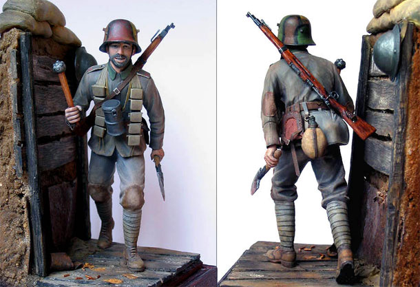 Figures: German stormtrooper, 1917-18