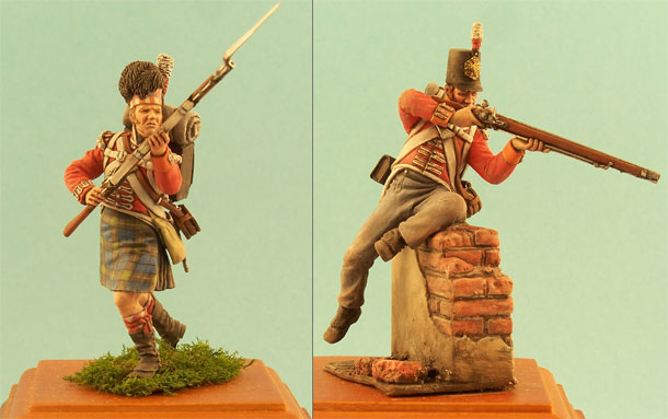 Figures: English ans Scottish infantrymen, 1812