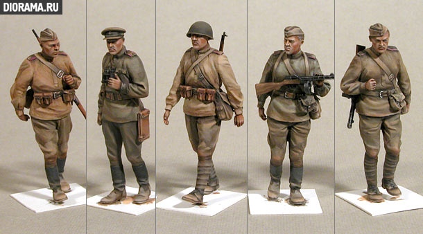 Reviews: Sofiet infantry . Summer 1943-45