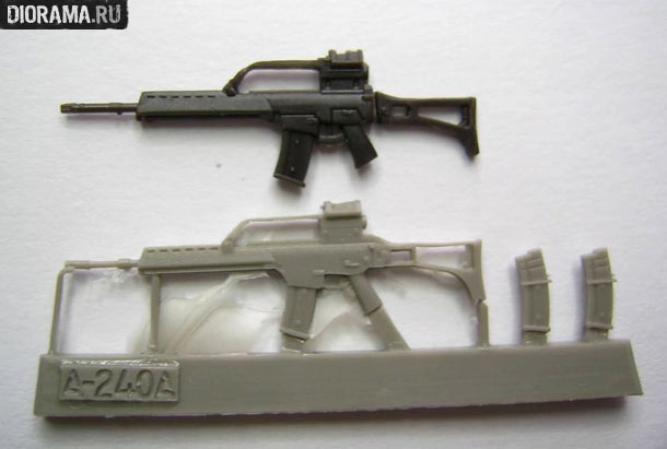 Reviews: G36 assault rifles in 1/35 scale