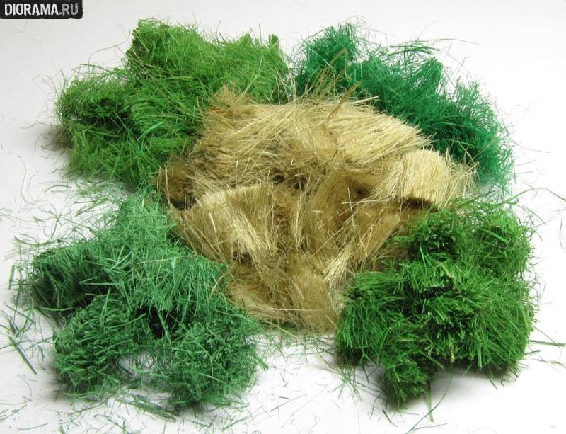 Из чего сделать траву для поделки своими 44